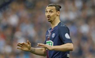 Zlatan Ibrahimovic, lors de la finale de la Coupe de France contre Marseille, le 21 mai 2016.
