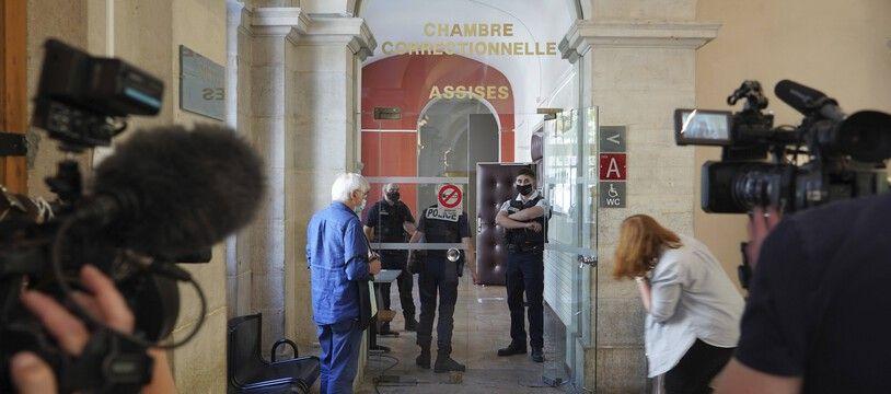 Le tribunal de Valence en marge du procès de Damien T., le 10 juin dernier.