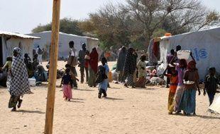 Photo prise le 26 janvier 2015 du camp de l'ONU à Baga Sola, près du lac Tchad, accueillant de refugiés ayant fui l'offensive de Boko Haram contre la ville nigériane de Baga