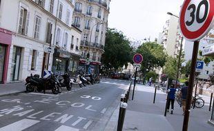 Une rue à 30 km/h à Paris. (Illustration)