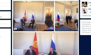 Capture d'écran des photos de Vladimir Poutine postées par les journalistes, le 16 mars 2015.