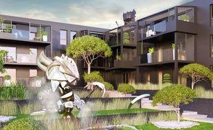 L'appartement mis en vente sous forme d'escape game est situé dans ce bâtiment.