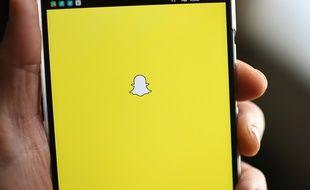 Logo Snapchat sur un téléphone