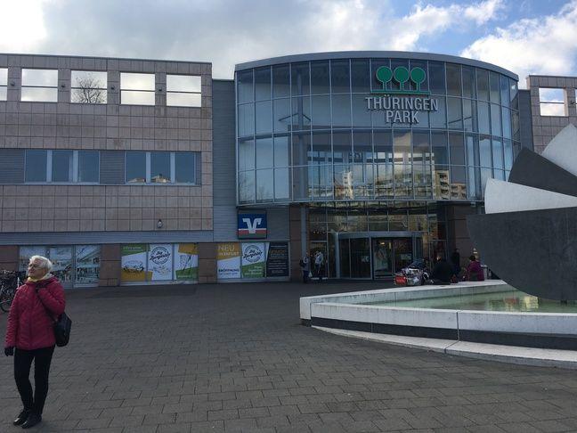 Le centre commercial du quartier Moskauer Platz à Erfurt (Allemagne), le 30 octobre 2019.