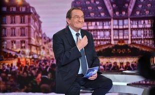 Le journaliste Jean-Pierre Pernaut lors de son dernier JT de 13h sur TF1.