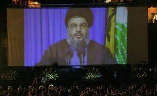 Hassan Nasrallah, secrétaire général du Hezbollah, à Beyrouth le 14 août 2007.