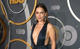 L'actrice Emilia Clarke lors de la soirée post-Emmy Awards organisée par HBO