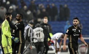 Mathieu Gorgelin, Nicolas Nkoulou et Jordan Ferri étaient comme tout l'OL abattus après l'élimination prématurée en Coupe de la Ligue mercredi.
