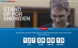 Capture d'écran du site PardonSnowden.org, qui réclame une grâce pour Edward Snowden.