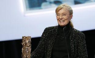 La productrice Margaret Menegoz aux César 2013. Elle était allée chercher le César du meilleur film décerné à «Amour» de Michael Haneke.