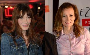 Montage: Carla Bruni et Valérie Trierweiler en 2014.