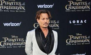 Johnny Depp à la première de Pirates des Caraïbes.