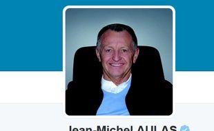 Capture d'écran du compte du président de l'OL Jean-Michel Aulas sur Twitter.