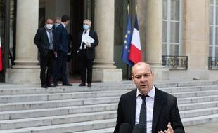Le secrétaire général de la CFDT, Laurent Berger, à l'Elysée, le 29 avril dernier (Illustration)