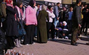 Manifestation devant l'université Al Quds à Jérusalem Est le 6 janvier 2009