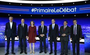 Les candidats à la primaire de la droite avant le premier débat, diffusé sur TF1, LCI et RTL.