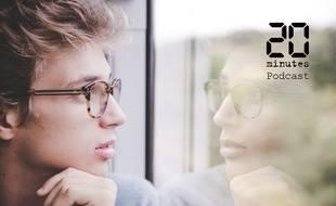 Illustration d'un jeune homme regardant par la fenêtre