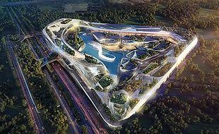Le projet prévoit un lac intérieur