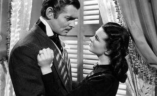 """Clark Gable et Vivien Leigh dans """"Autant en Emporte le Vent""""."""