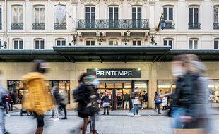 Le centre-ville de Lyon, le 22 décembre 2020.