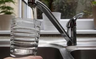 Illustration sur l'eau du robinet.