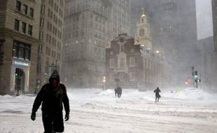 La neige a recouvert Boston, le 4 janvier 2018.