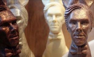 "Voici les ""Cumberbunnies"", des lapins en chocolat à l'effigie de Benedict Cumberbatch."