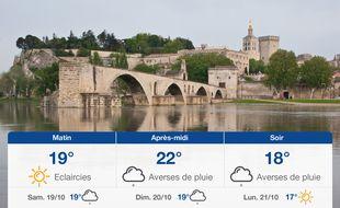 Météo Avignon: Prévisions du vendredi 18 octobre 2019
