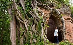 Les temples de brique de la cité ancienne Sambor Prei Kuk, au Cambodge.