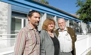 Les docteurs Mongin, Lognos et Bastide, à l'initiative de cette maison médicale de garde.