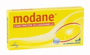 Une boîte de Modane, un médicament contre la constipation.