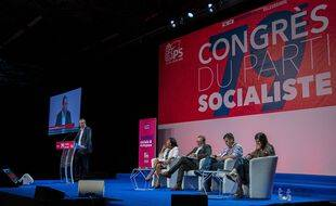 Au 79e congrès du Parti socialiste, à Villeurbanne le 18 septembre 2021.
