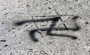 Illustration de profanation de tombes juives.