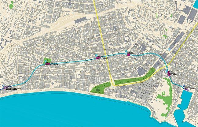 La plan du tracé prévu en souterrain