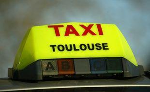Un taxi à Toulouse. Illustration