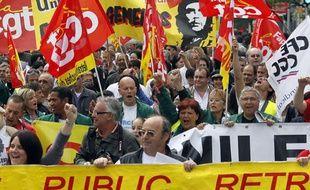 Un des cortèges de la CGT lors des manifestations du 1er Mai à Marseille.