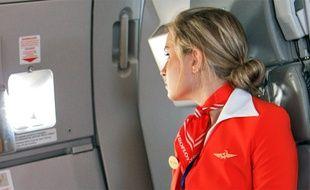 Une hôtesse de l'air de la compagnie russe Aeroflot (illustration).