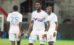 Nicolas Nkoulou lors du match entre Marseille et Saint-Etienne en septembre 2013.