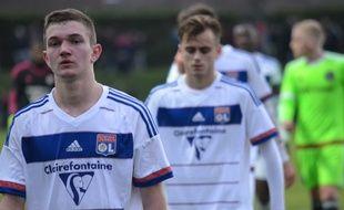 Gaëtan Perrin, Timothé Cognat et les Lyonnais sont sortis par la petite porte de la Youth League ce mercredi.