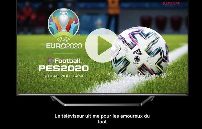 Le téléviseur ULED U7 d'Hisense, TV officielle de l'Euro.