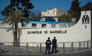 Le centre d'entraînement Robert Louis-Dreyfus sous protection policière le 21 mars 2016