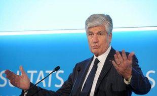 Maurice Lévy, président du directoire de Publicis, à Paris le 12 février 2015