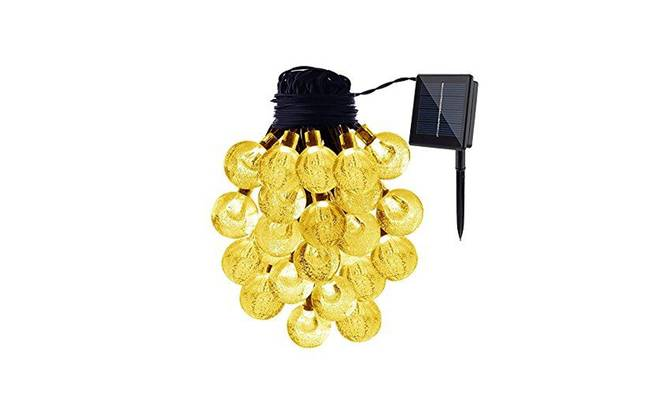 Guirlande lumineuse de jardin solaire 30 LED