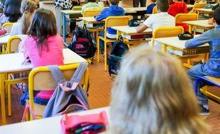 Illustration d'une salle de classe.