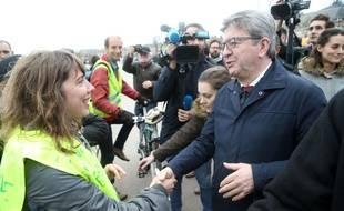 Jean-Luc Mélenchon à la marche pour le climat à Bordeaux, le 8 décembre 2018.