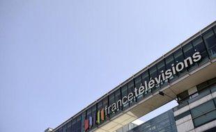 Le siège de France Télévisions, le 23 avril 2015 à Paris