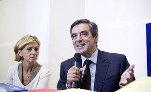 Valérie Pécresse et François Fillon, le 5 septembre 2012 à l'hôtel de l'industrie à Paris.