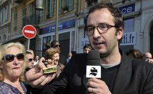 Cyrille Eldin en reportage, en 2014.