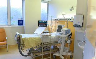 Une chambre à l'hôpital Bichat à Paris, le 11 mars 2021.