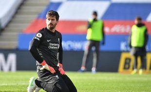 Alisson Becker a commis une grosse erreur qui a coûté une défaite à Liverpool, le 13 février 2021 face à Leicester.